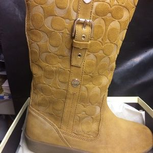 NEVER WORN Coach Boots Size 10